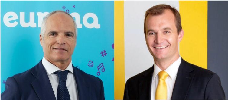 Fernando Ojeda, consejero delegado de Eurona junto a Meinrad Spenger, CEO de MásMóvil
