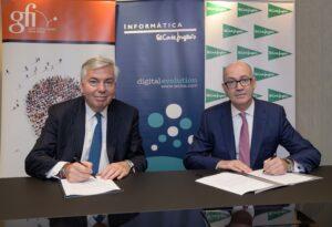 Vincent Rouaix, CEO de GFI y Jesús Nuño de la Rosa, presidente de IECISA