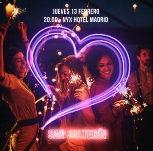 "NYX HOTEL MADRID organiza ""SAN SOLTERÍN"" afterwork para llegar a San Valentín con pareja | Imagenacion"